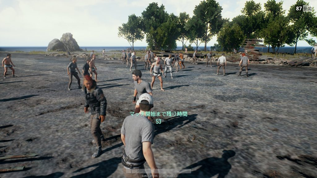 PlayerUnknown's Battlegrounds(PUBG)ゲーム開始前の待機