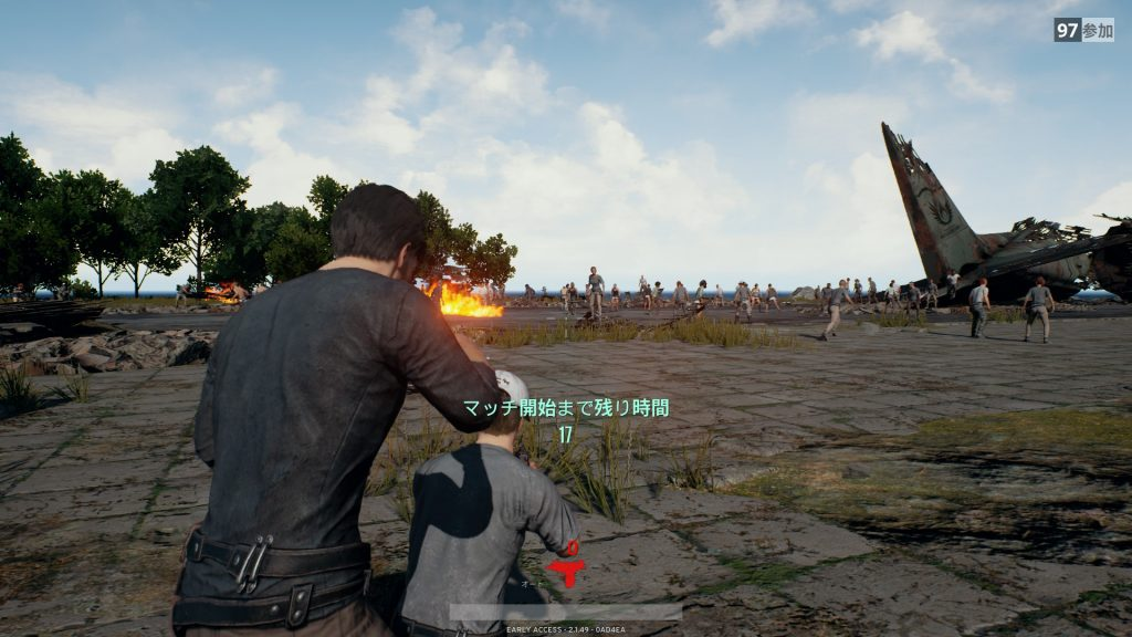 PlayerUnknown's Battlegrounds(PUBG)待機場所でも襲われる