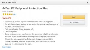 Amazon.comの保証サービス