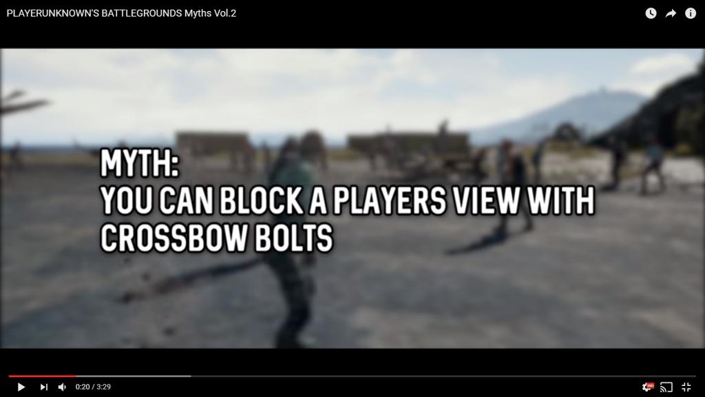クロスボウボルトで撃った相手の視界を遮ることができるか