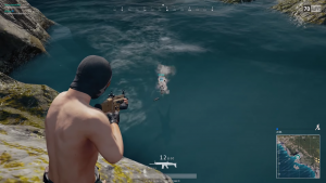 潜っている敵には弾は当たりません