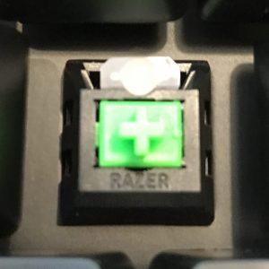 Razer独自開発の緑軸(グリーンスイッチ)