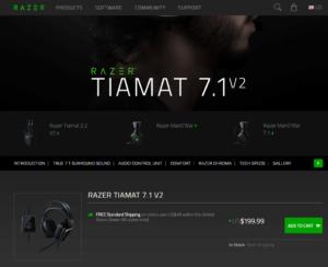 「Tiamat 7.1 V2」北米のRazerZoneでは購入ができる状態