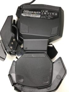 Razer Orbweaverを最大に広げた状態(裏面)