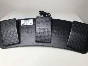 ルートアール USB3連フットペダルスイッチ マウス操作対応 RI-FP3BK