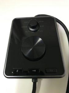 Tiamat 7.1 V2のオーディオコントロールユニット