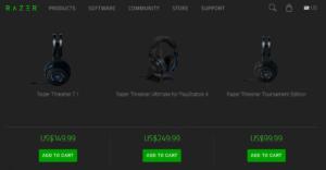Razer Thresher 7.1、Ultimate、TE