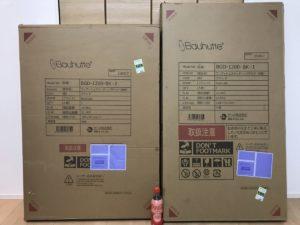 それぞれ別売りというこもあり、大きな箱が2つ