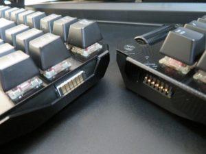 キーボードとテンキーの端子