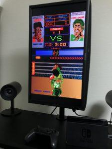 スタンディングゲームで気分はゲームセンターのアップライト筐体「パンチアウト!!」