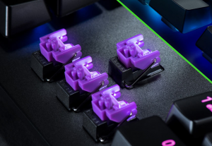 Razer独自開発の光学メカニカルスイッチ(紫軸)