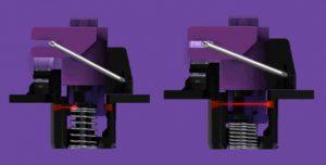キーを押すと遮られていたセンサーが通ることで入力を認識 ※RazerのHPより