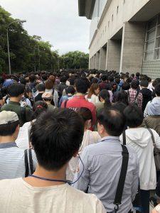 東京ゲームショウ2018 初日:7時過ぎに海浜幕張駅着で並んだ状況