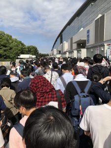 東京ゲームショウ2018 2日目:6時過ぎに海浜幕張駅着で並んだ状況