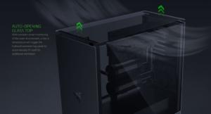 ケース内の温度で自動で開閉する油圧式天板