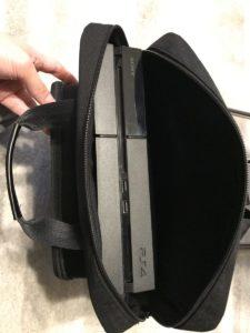 PS4と関連機器を収納
