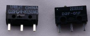 元のスイッチ(左)と交換用のスイッチ(右)は異なります