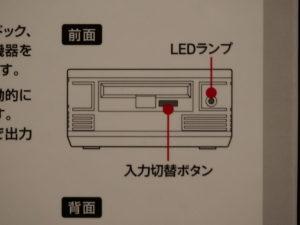 パッケージ裏面の「LEDランプ」の表記は誤り