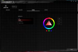 ROG Armoury IIのROG Sync管理画面