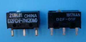 どちらもオムロン社ですがプリインストールスイッチは中国製、交換用は国内製。
